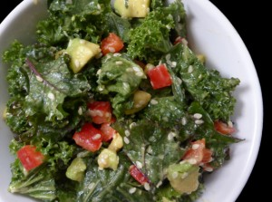 Two Kitchens Miso Kale Salad